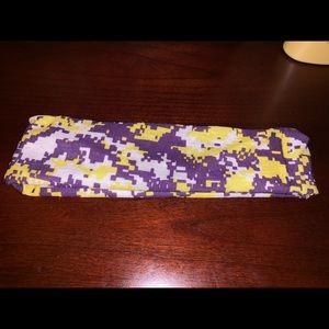 Purple and yellow headband